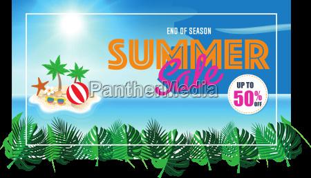 summer sale background beach island background