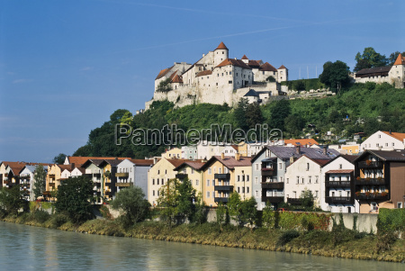 burghausen with castle over the river