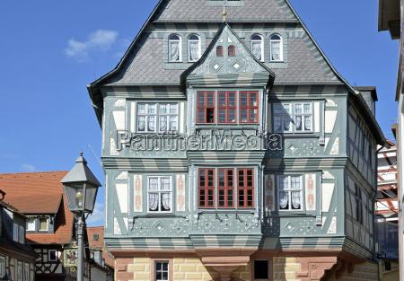 historical facade of haus zum riesenmiltenberg